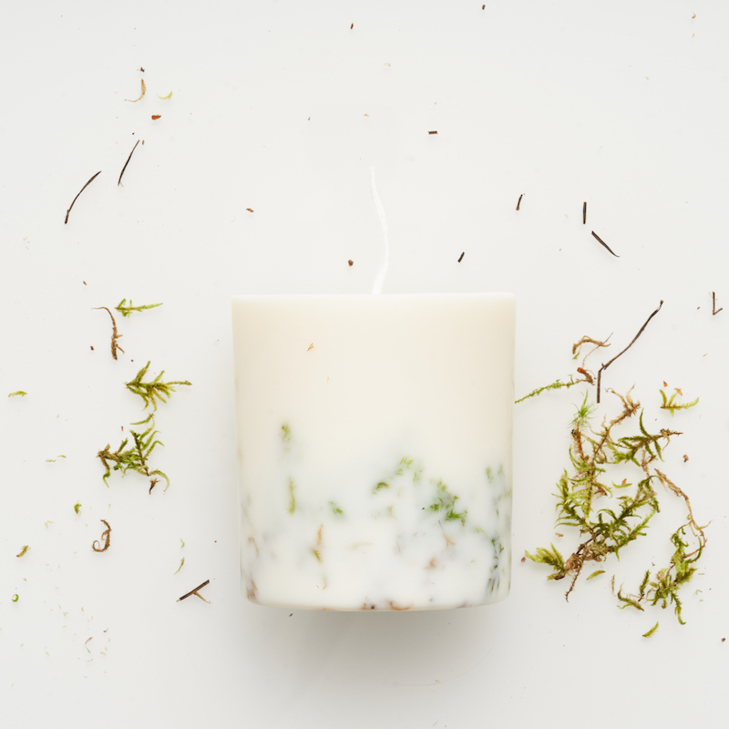 Moss+candle