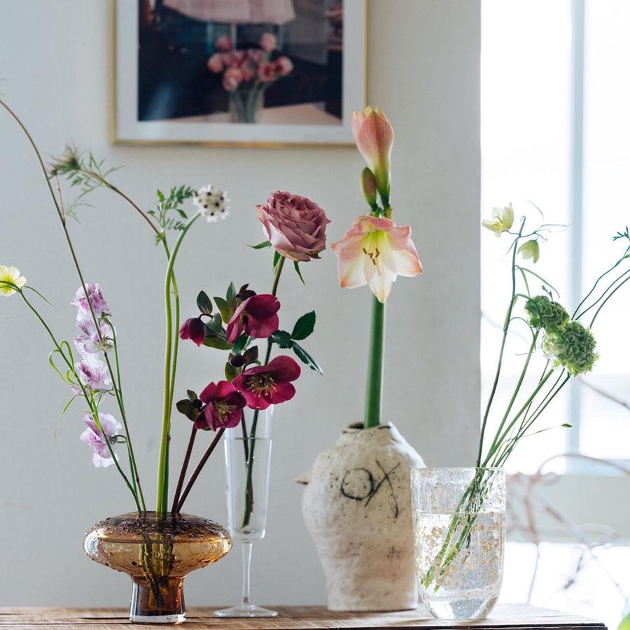 お家に花を飾る